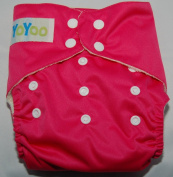 YoYoo One Size Bamboo Pocket Nappy Hot Pink. FuzziBunz