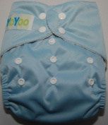 YoYoo One Size Bamboo Pocket Nappy Baby Blue. FuzziBunz