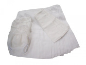 Dappi Prefold Cloth Nappy Bundle, White, Large