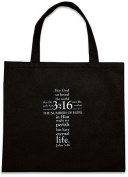 BULK John 3:16 Tote Non-Woven Reycled Nylon Bag Great Gift Ideas for Sunday School Teachers and Youth