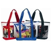 Large Clear Tote Bag with Zipper Closure