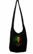 Rasta with Skull Shoulder Purse Sling bag Tote bag