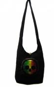 Rasta with Skull Shoulder Purse Sling bag Tote bag