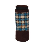 Retro Bottle Holder - Turquoise/Chocolate