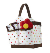 Tiny Tillia Nappy Caddy, Rattle and Burp Cloth