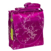 I Frogee Hot Pink-Silver Cherry Blossom Brocade Nappy Bags 12x30.5cm x 10.2cm