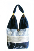 Thai Silk and Cotton Hippie Hobo Purse Tote Shoulder Bag Handmade From Thailand Hobo#001