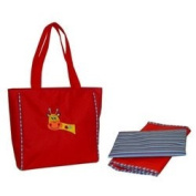 Circle of Friends Day Bag - Red Giraffe