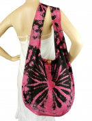 Tie Dye Sling Crossbody Messenger Bag Hippie Hobo Pink Firework Vj17
