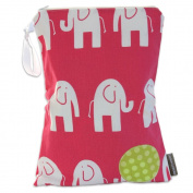 Logan + Lenora Classic Pink Elephant Wet Bag