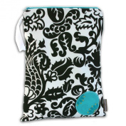 Logan + Lenora Classic Black and White Damask Wet Bag