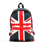 Outdoor Sports and Leisure Bags of Rice Union Jack Backpack Men and Women Pack Shoulder Bag