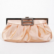 Classic Shoulder Clutch Bag Handbag Tote Apricot