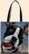 Boston Terrier Oil Cloth Tote Bag Brett Longley