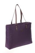 Bellotte Designer Shopper Tote Nappy Bag in Plum
