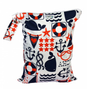 Snuggy Baby Large Wet Bag - Anchors Away