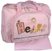 Baby Essentials Pink Sweet Heart Baby Girl Nappy Bag