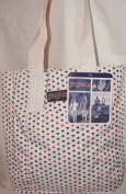 Jansport White Black & Red Mini Heart Polka Dot Tote Bag