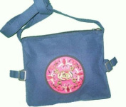 Interact China Handmade Tote Nappy Boho Shoulder Bag Handbag NEW #548 -Blue,one size