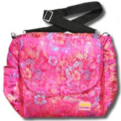 Purple Flowers Silk Boutique Nappy Bag