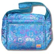 Blue Flowers Silk Boutique Nappy Bag