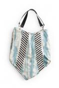 Rosanna Ink Blot Handbag - Light Blue/Charcoal