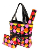 *Best Seller* Black Retro Dots Nappy Tote Bag