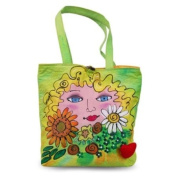 BrightFaces Flowers Large . /Colourful Tote Bag
