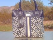 Blue [TOMMY HILFIGER] Shoulder Tote Handbag Small Tommy