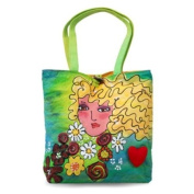 BrightFaces Blond Large . /Colourful Tote Bag