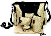 House of Botori Amara Shoulder Nappy Bag, Filigree Sage