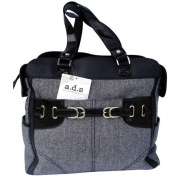 AD Sutton & Sons Herringbone Nappy Bag Black