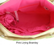 Pink Lining Bramley Tote Green Dragonflies