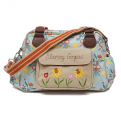 Pink Lining Blooming Gorgeous - Blue Bouquet Nappy Bag
