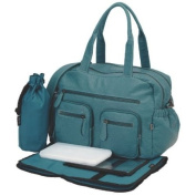 Oioi Faux Buffalo Carry-All Tote Nappy Bag By Oi Oi - Turquoise