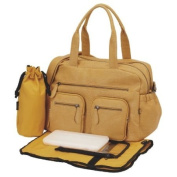 Faux Buffalo Carry-All Tote Nappy Bag by Oi Oi - Mustard