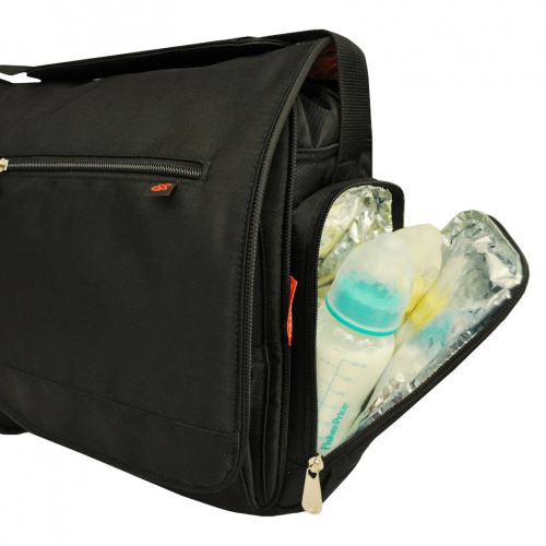 fisher price fastfinder deluxe messenger nappy bag black shipping is free ebay. Black Bedroom Furniture Sets. Home Design Ideas