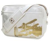 Cevan Metro Nappy Bag Parisian White Vintage Biplane Perforated Finish