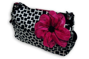 Caught Ya Lookin' Chic Nappy Bag, Black and White