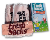 Fresh Sacks Biodegradable Nappy Disposal Bags, 50 ct