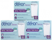 Dekor Classic Hands Free Biodegradable Nappy Pail Refill - 2 Pack