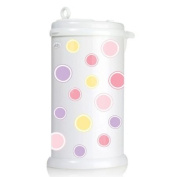 Ubbi Nappy Pail Decals - Pink Bubbles