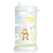 Ubbi Nappy Pail Decals - Safari