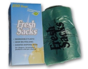 Fresh Sacks Biodegradable Nappy Disposal Bags, Roll of 250