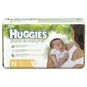 Huggies Pure & Natural Newborn Nappies Jumbo Pack 30ct.