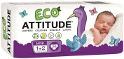 ATTITUDE, Eco Nappies, 36 Nappies, Mini 1 + 2, 6-15 lbs