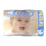 BAMBO® Baby Nappies - Size 0 - Premature - Fits 1-2.99kg - 24 Count