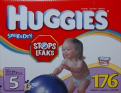 Huggies Snug & Dry - Size 5, Over 12.25kg - 176 Nappies