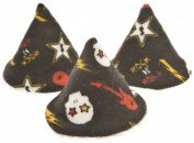 Beba Bean Pee-pee Teepee Skulls - Black - Cellophane Bag