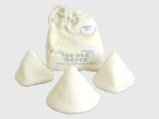 Beba bean Pee-pee Teepees Baby Nappies Aid, Organic Natural with Laundry Bag